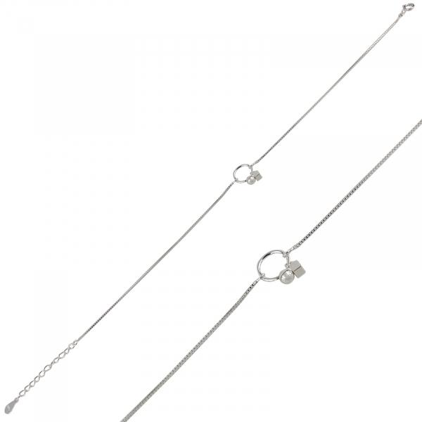 Bratara picior Argint 925% Dangling Circle [0]