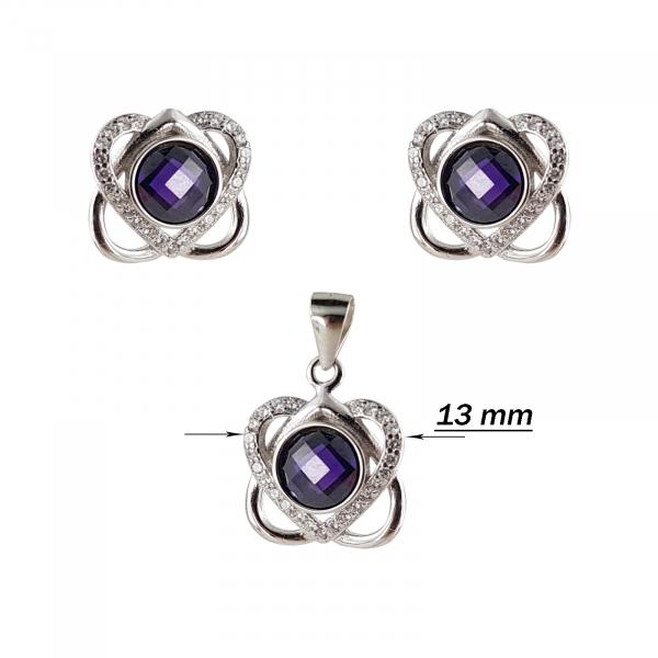 Set Argint 925% Purple Heart [2]