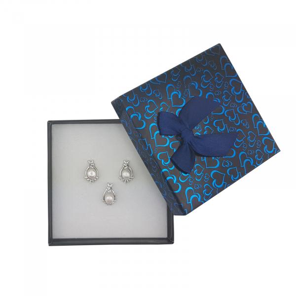 Set Argint perla cultura si zirconia, cod 2381 [2]