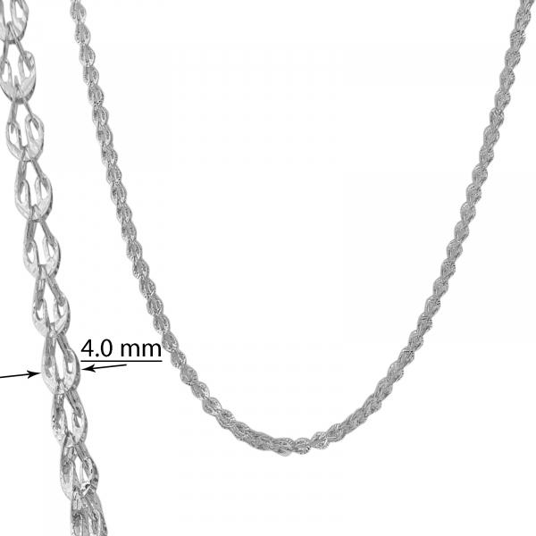 Lant Argint 925% placat cu rodiu [2]