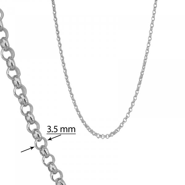 Lant Argint 925% cu zale rotunde de 3,5 mmm [2]