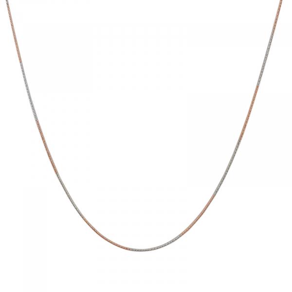 Lant Argint 925% bicolor , cu alternante auriu-rose si argintiu rodiat [0]