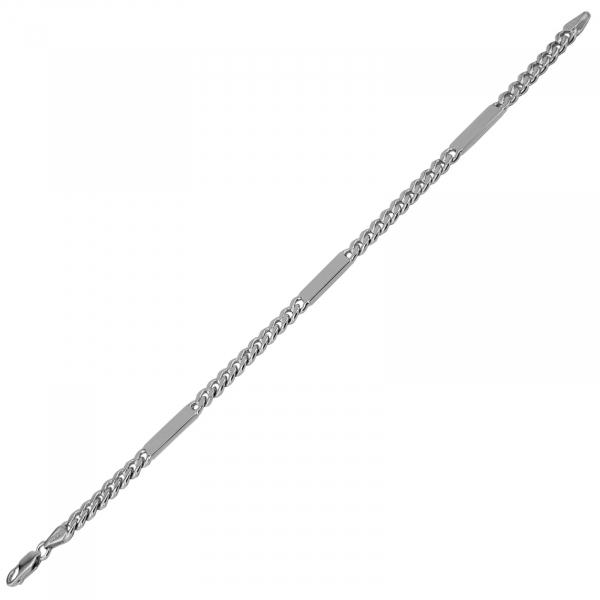 Bratara Argint 925% model grumetta cu placute, [1]
