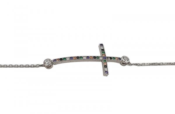 Bratara Argint 925% cu zirconii multicolore 1559 [1]