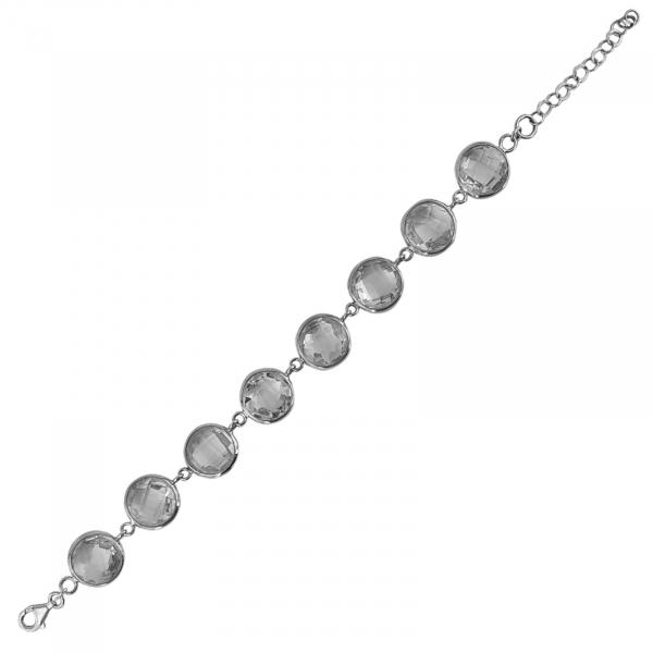 Bratara Argint 925%  eleganta cu zirconia albe [0]