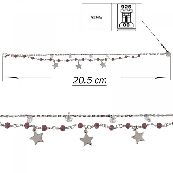 Bratara Argint 925% cu Agate si stelute [1]