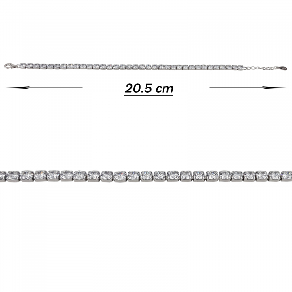 Bratara Argint 925% Trendy White [2]