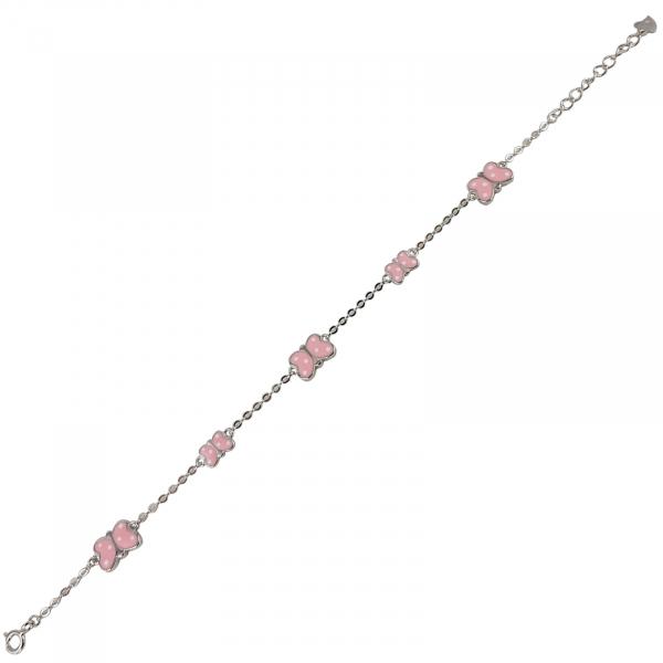 Bratara Argint 925% cu fluturasi roz [0]