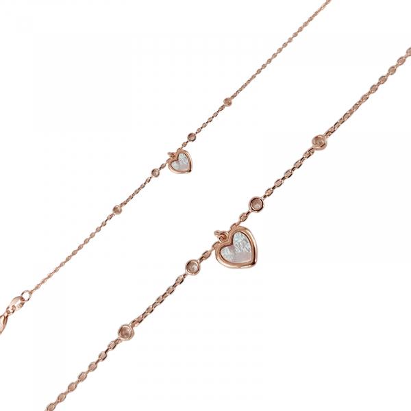 Bratara Argint 925% Rose_gold cu inimioara din sidef [1]