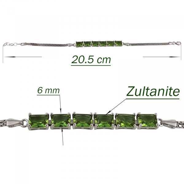 Bratara Argint 925% cu zultanite de forma dreptunghiulara [2]
