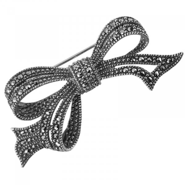 Brosa-medalion Argint 925% cu marcasite Gentle [1]