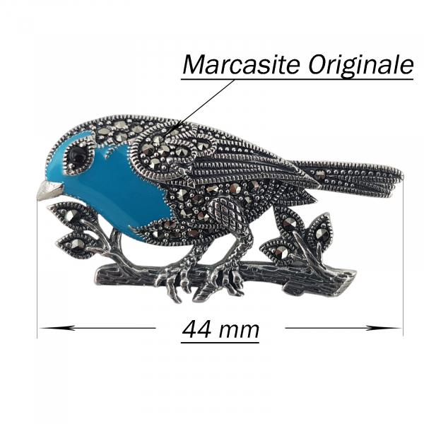 Brosa-medalion Argint 925% cu marcasite [2]