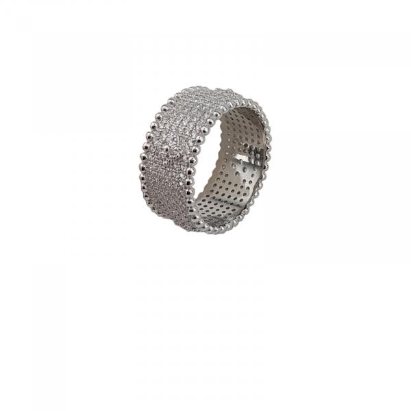 Inel Argint 925% cu multiple zirconii albe [1]