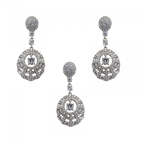 Set elegant Argint 925% cu zirconii albe [0]