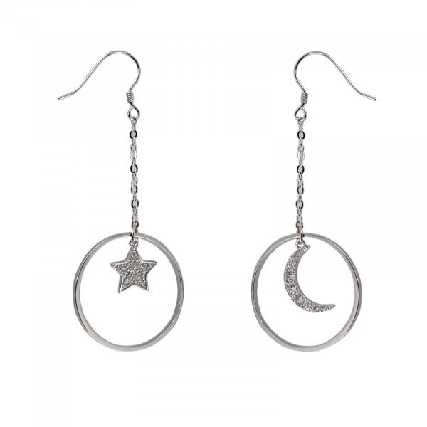 Cercei Argint 925%  lungi Moon&Star [0]