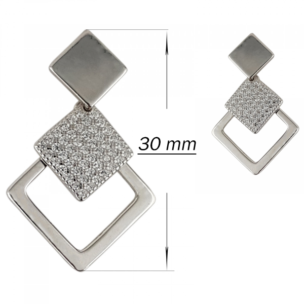 Cercei Argint 925% romboidali Lozenge [2]