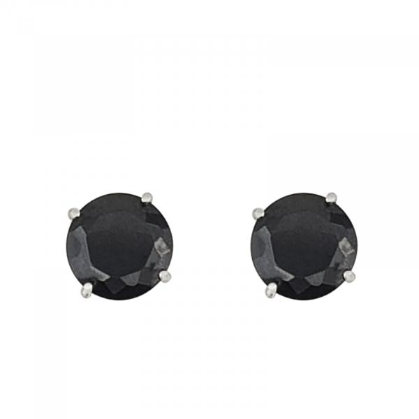 Cercei Argint 925% Round-Black [0]