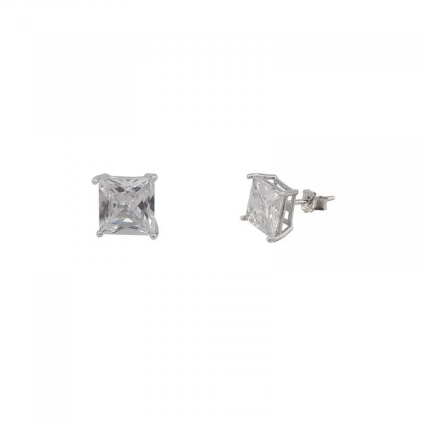 Cercei Argint 925% zirconiu patrat 1506SQW6 [1]