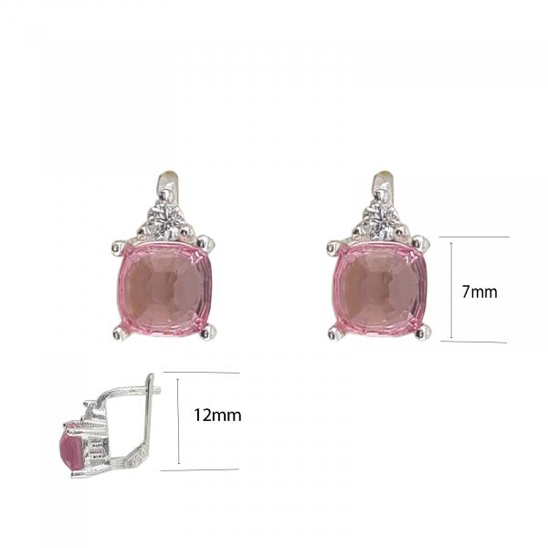 Cercei Funy Pink din Argint 925% ,cod 1996B [4]
