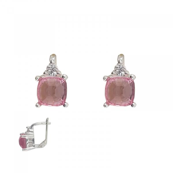 Cercei Funy Pink din Argint 925% ,cod 1996B [2]