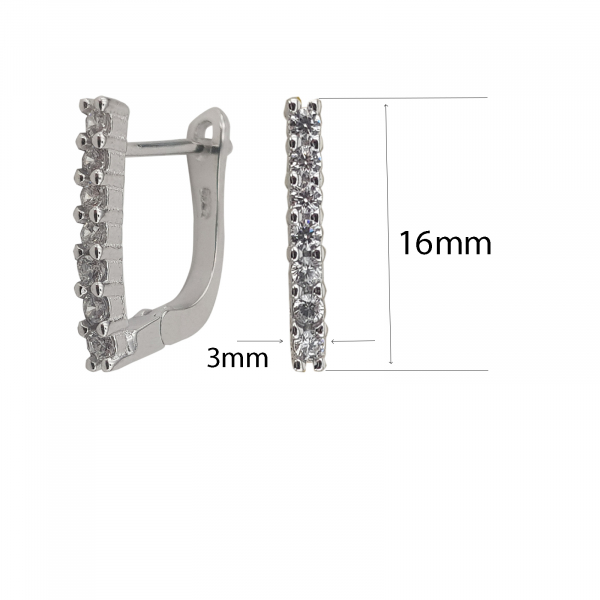 Cercei din Argint 925% cu zirconiu 2052 [3]