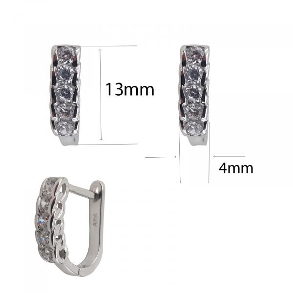 Cercei din Argint 925% cu zirconiu 2053 [2]