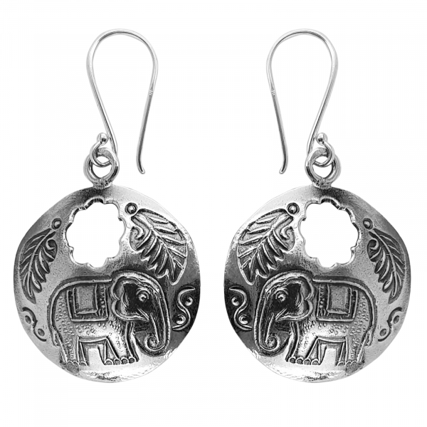 Cercei Argint 925% cu elefanti Indra [0]