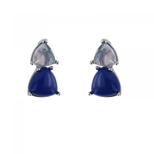 Cercei Argint 925% cu Piatra Lunii si Lapis Lazuli [0]