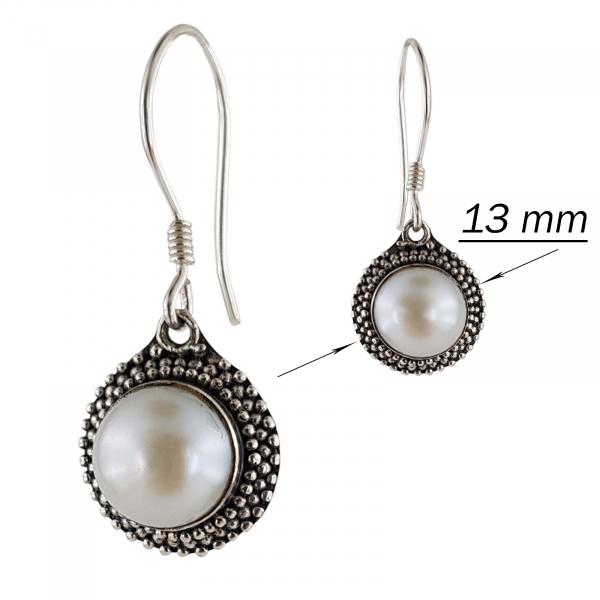 Cercei Argint 925% cu perla Fancy Shell [2]