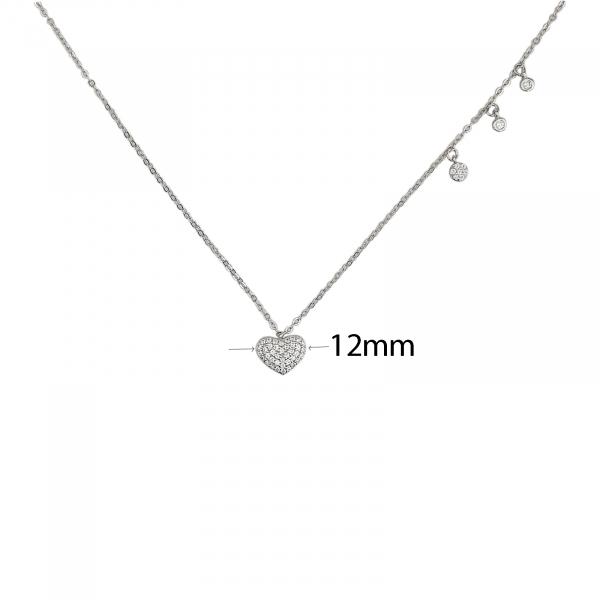Colier din Argint 925% inimioara cu multiple zirconii 1841 [1]
