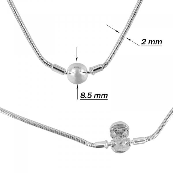 Colier Argint 925% cu inchizatoare rotunda [2]