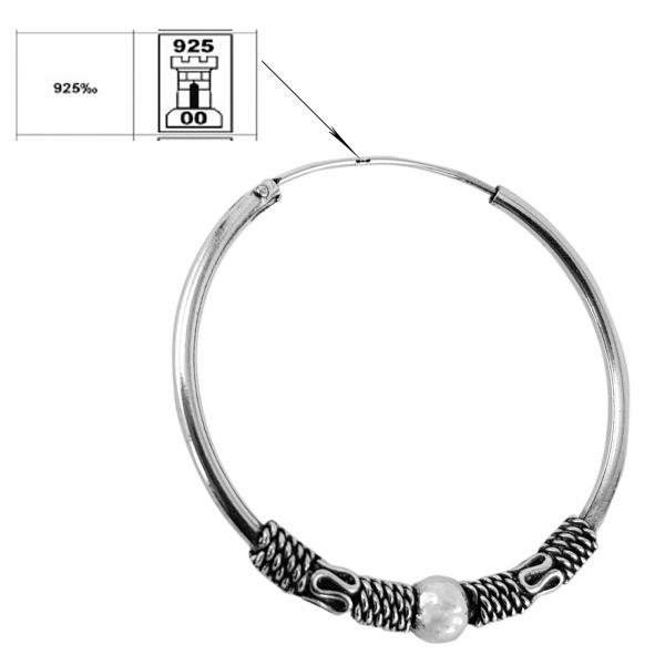 Creole Argint 925% cu model si sfera de 4mm atasata [2]