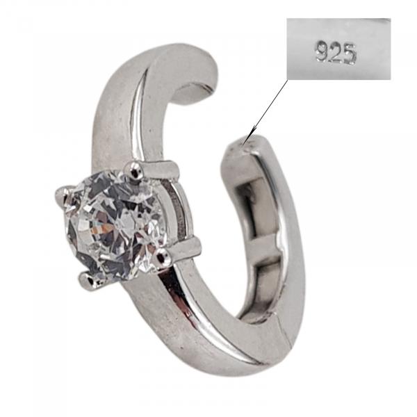 Cercei ear cuff din argint 925% si cubic zirconia [1]