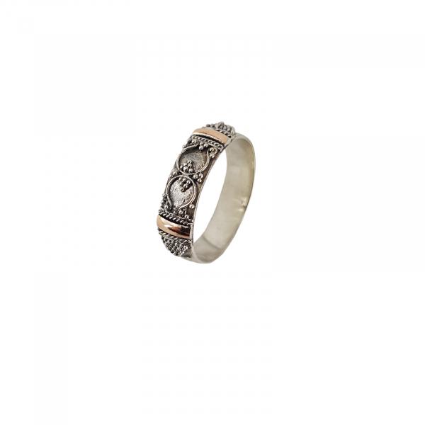 Inel Argint 925% cu aspect bicolor Heritage [0]