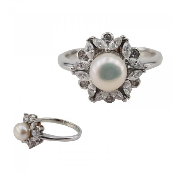 Inel Argint 925% cu perla de cultura 1958 [0]