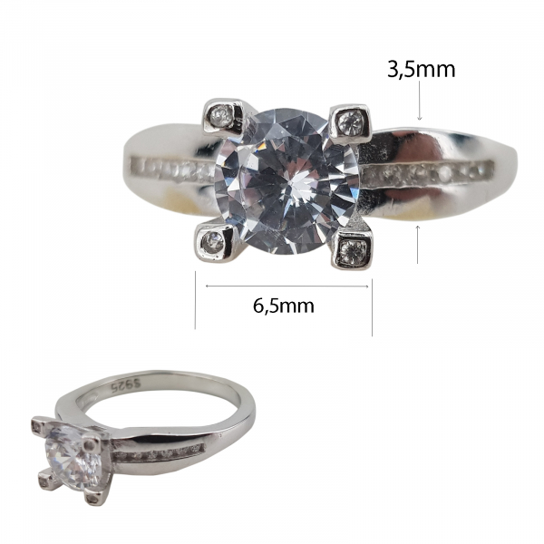 Inel Argint 925% si cubic zirconiu 1871 [1]