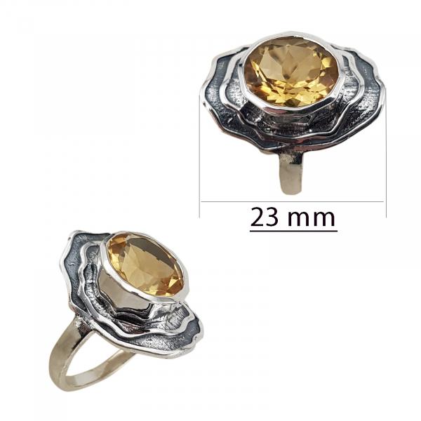 Inel Argint cu citrin, usor antichizat [2]