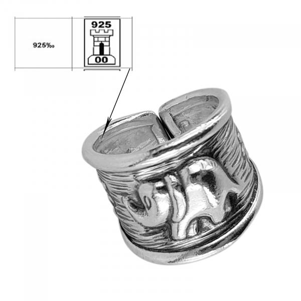 Inel reglabil din Argint 925% Indra [1]