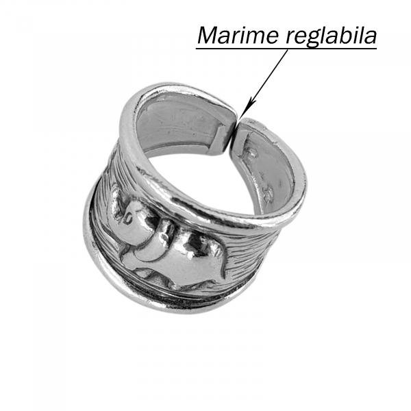 Inel reglabil din Argint 925% Indra [2]