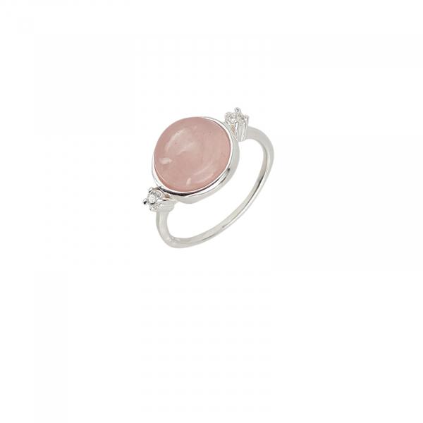 Inel Argint 925% Grand Air cu rose cuart [0]