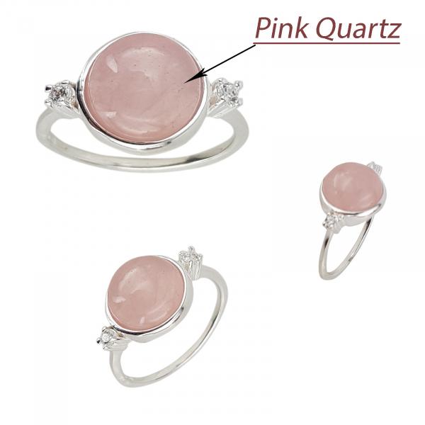 Inel Argint 925% Grand Air cu rose cuart [1]