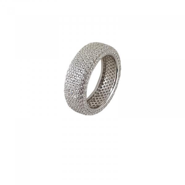 Inel Argint 925% fashion placat cu CZ albe. [1]