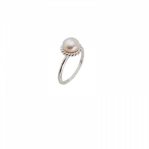 Inel clasic din Argint 925% cu perla de cultura de 8mm [0]