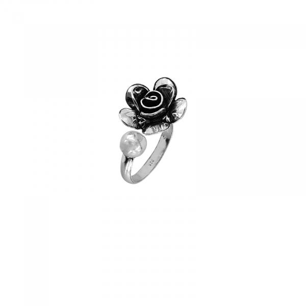 Inel Argint 925% reglabil, Vintage Rose [0]