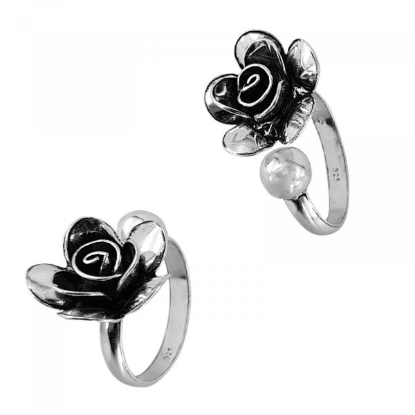 Inel Argint 925% reglabil, Vintage Rose [1]