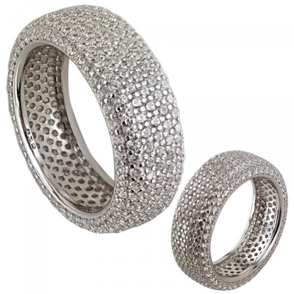 Inel Argint 925% fashion placat cu CZ albe. [0]