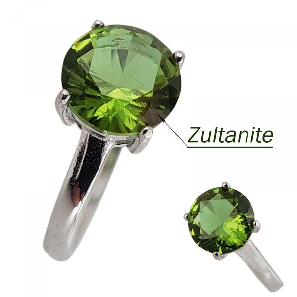 Inel Argint 925% Magic Green cu zultanit [2]
