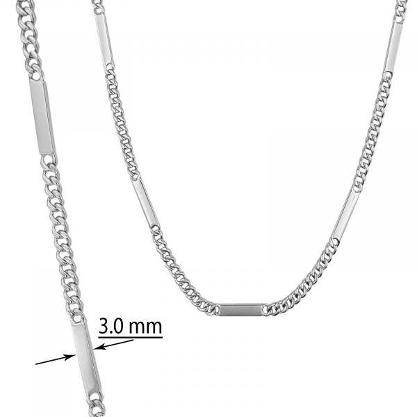 Lant Argint 925% model grumetta cu placute intercalate [0]