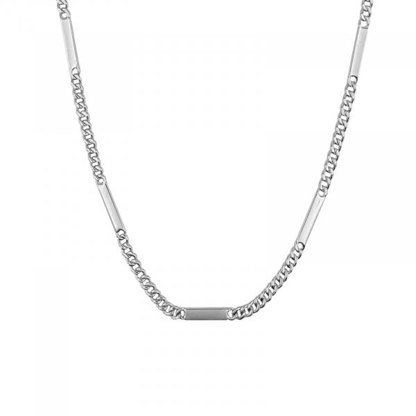 Lant Argint 925% model grumetta cu placute intercalate [1]
