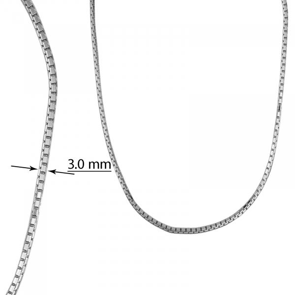 Lant Argint 925% placat cu rodiu si profil patrat [1]